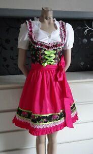 Dirndl XS Dress Blouse Apron  German Bavarian Authentic  2