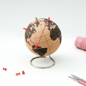 Pin Your Travels Cork Globe - Chasing Threads