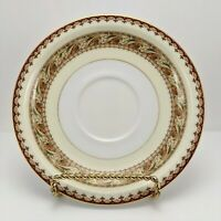 Vintage Meito China Asama Shape Saucer Gold Trim