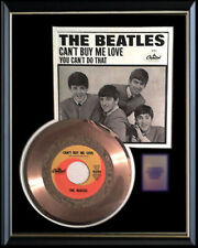 THE BEATLES CAN'T BUY ME LOVE 45 RPM GOLD METALIZED RECORD RARE FRAMED NON RIAA
