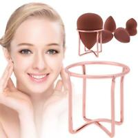 Makeup Sponge Holder Stainless Steel Cosmetic Puff Organizer Tray Accessory Tool
