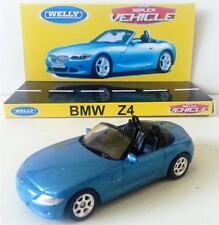 WELLY 1:64 BMW Z4 2004 Diecast Replica Vehicle Model Car on Custom Display Base