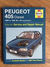 VGC UNUSED PEUGEOT 405 DIESEL 1988 to 1996 ( E - N REG ) HAYNES WORKSHOP MANUAL