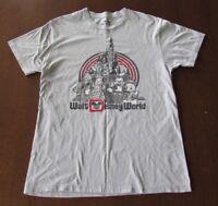 Walt Disney World Mickey & Friends Printed T-Shirt Retro Size M Gray