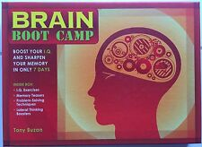 Brain Boot Camp Sharpen Your Memory in 7 Days by Tony Buzan (2008) Kit Game