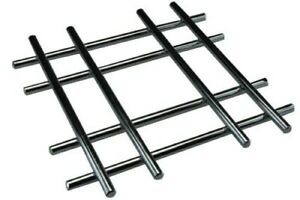 Apollo Chrome Trivet, Cross Design, 20cm Heatproof Table Hot Pan Pot Stand Rest