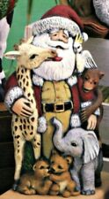 CERAMIC BISQUE CHRISTMAS AFRICAN WILDLIFE SANTA CLAUS- READY TO PAINT
