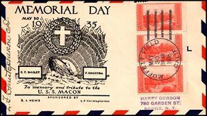 30 May 1935 USS Macon Memorial Day In Memory Of... Black S.J. News Cachet