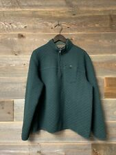 New listing Eddie Bauer Large Quilted Fortify Insulated Pullover Green Blue 1/4 Zip