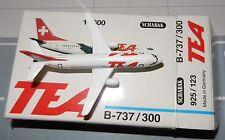 Schabak 1:600 Scale Diecast 925-123 Tea Trans European Airways Boeing 737-300