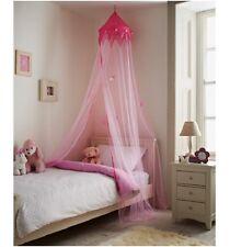 Large 230cm Pink Princess Canopy Bed Crown Stars Net Kids Girls