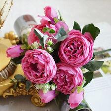 1 Bouquet Artificial Fake Peony Silk Flower Bridal Hydrangea Wedding Party Décor
