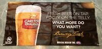 Rare Large Official Carlton Draught AFL Promotional Banner