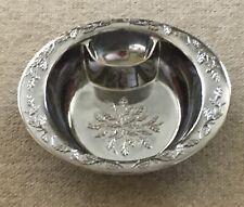 Lenox divided serving bowl with decorative leaf pattern