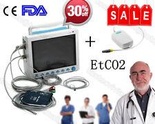 "Tragbare 12,1 ""Color Vital ICU Patientenmonitor mit EKG NIBP SPO2 PR TEMP ETCO2"
