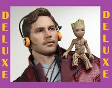GOTG VOL.2 STAR-LORD DELUXE VER (Chris Pratt) 1:6 HotToys_MMS421_SEALED SHIPPER!