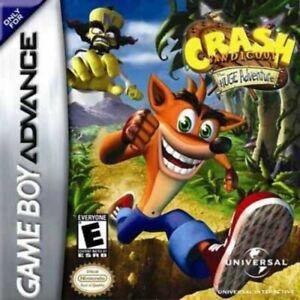 Crash Bandicoot: The Huge Adventure - Game Boy Advance GBA Game