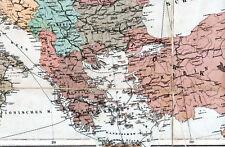 Greece Srbija Bulgaria Turkiye 1916 orig. Teil-Kriegskarte/Ln. Hrvatska Albania