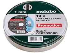 10x DISQUE A TRONCONNER HAUT DE GAMME METABO POUR MEULEUSE 125 x 1 mm