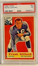 1956 Topps Frank Gifford #53 PSA NM 7 New York Giants HOF