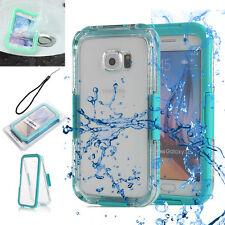 Waterproof Shock Dirt Proof Clear Back Case For Samsung Galaxy S6 / Edge Mint