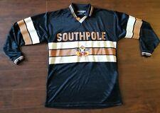 Southpole VTG Longsleeve Shirt 90s Black Brown Beige Jersey Soccer 1996 Large