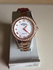 Rotary Ladies' Rose Gold Stainless Steel Watch