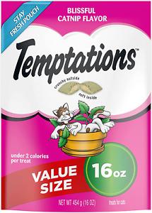 TEMPTATIONS Classic & MixUps Crunchy and Soft Cat Treats, 16 oz.