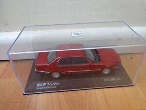 MINICHAMPS 1/43 CLASSIC 1986 BMW 7 SERIES METALLIC RED DIECAST CAR 400 024300