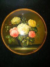 Blumengemälde im Stil der niederländischen Maler - hand painted - 30 cm