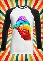 LGTB Rainbow Colours Humans Men Women Long Short Sleeve Baseball T Shirt 1711