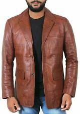 Men's Leather Blazer Genuine Soft Lambskin TWO BUTTON Sport Coat Jacket RB085