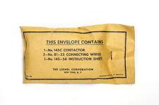 Postwar Lionel #145 Track Contactor~Mint Unused~w/Sealed Envelope
