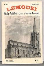 Revue Lemouzi N°31 Juill-1969. Ventadour/Juyé/soldats/Corrèze: archéo/Sechiera..