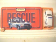 Matchbox 2000 RESCUE Chevrolet Police Tahoe SUV with Pleasant Company Book New