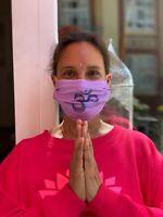 HLP Community Wende-Maske - Yoga Om - organic fairwear Facemask