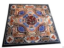 """30""""x30"""" Marble Top Coffee Table Inlay Pietra Dura Mosaic Furniture Home Decor"""