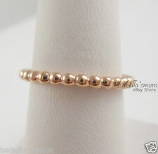 ETERNAL CLOUDS Genuine PANDORA Rose GOLD Plated STACKABLE Band RING 8.5/58 NEW