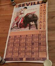 Plaza De Toros Sevilla Fiestas Primaverales Bullfighting Bullfighter Poster 1995
