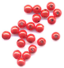 """**50 Perles"""" Magique Miracle Ronde"""" rouge 6mm"""