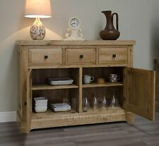 Grandeur solid oak furniture small living dining room sideboard