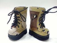 "Doll Clothes 18"" Boots Desert Camouflage Fits American Girl Dolls"