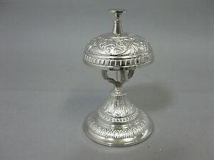Campana Reception Portiere Tavolo Bell Metallo Argento 14 CM