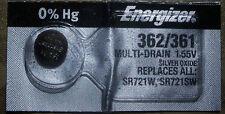Energizer 362 361 (SR721SW)  (SR721W) Silver Oxide Battery Fast USA