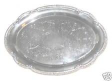 "Silverplate 9 1/2"" Metal Oval Tray"