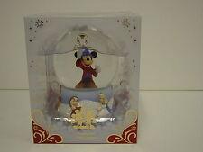 "NEW Disney Store Mickey Mouse Fantasia 5"" High Winter Snowglobe Christmas"