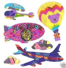 Sandylion Vintage 80's Prismatic Hot Air Balloon Stickers 1 Square RETIRED