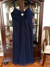 Womens JenJen House Wedding/Special Occasion Sz 22W Navy Dress Plus Size