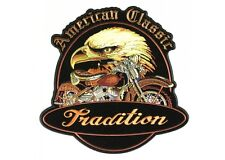 AMERICAN CLASSIC BIKER Patch Aufnäher Aufbügler groß Backpatch Tradition Harley