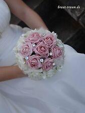 Excl. Brautstrauss aus Rosen mit Strass, Bling, Hochzeit, Braut, zum Brautkleid
